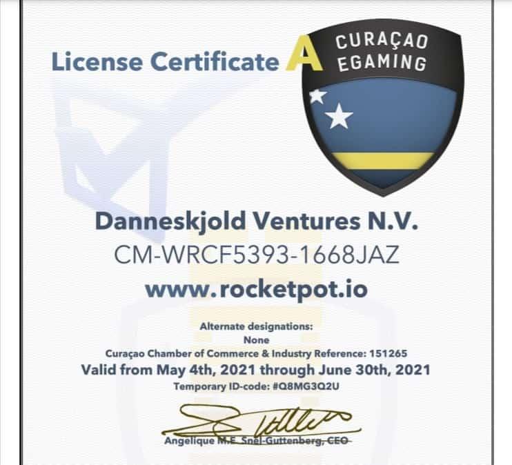 ロケットポットカジノライセンス